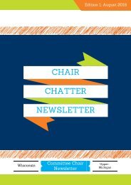 Chair Chatter Newsletter- August 2016