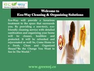 Housekeeping in Montclair|Eco-Way Cleaning & Organizing Solutions
