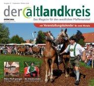 Altlandkreis Ausgabe September/Oktober 2016 - Das Magazin für den westlichen Pfaffenwinkel