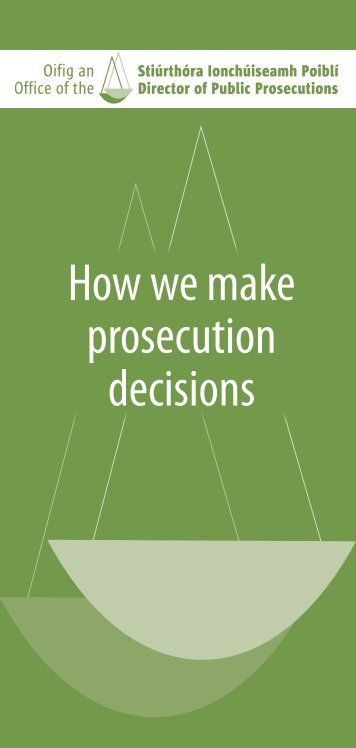How we make prosecution decisions
