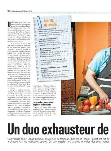 Poivre magazines for Secrets de cuisine