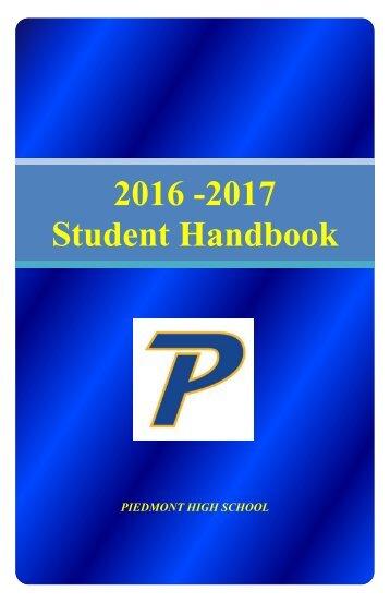 2016 -2017 Student Handbook