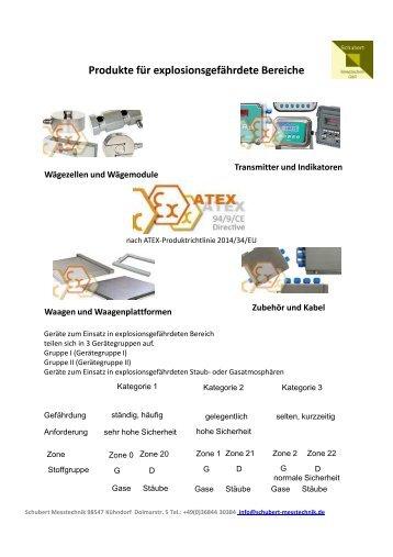 Waagen, Transmitter und Controller zum Einsatz im Ex Bereich