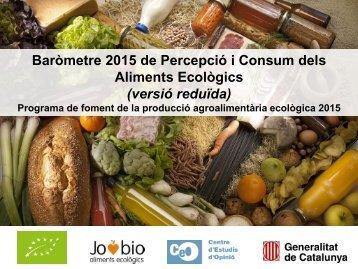 Aliments Ecològics (versió reduïda)