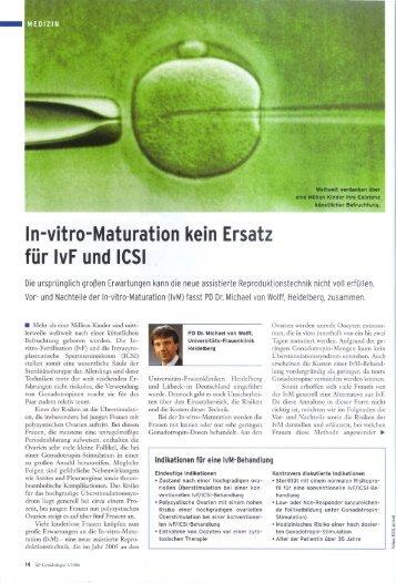 In-vitro-MaturationkeinErsatz fürIvFundICSI - Kinderwunschzentrum ...