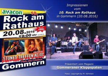 10. Rock am Rathaus in Gommern 2016