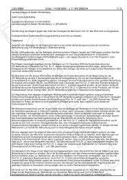 LSG BWB Urteil - 14.09.2004 - Kinderwunschzentrum Wiesbaden