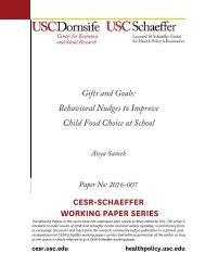 CESR-SCHAEFFER WORKING PAPER SERIES