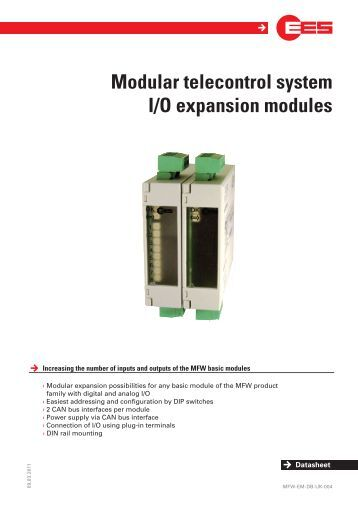 Modular telecontrol system I/O expansion modules - EES Elektra ...