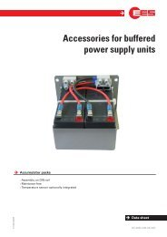 Accessories for buffered power supply units - EES Elektra Elektronik ...