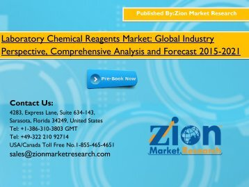 Laboratory Chemical Reagents Market 2015 Industry Size Share Analysis and Forecast to 2021