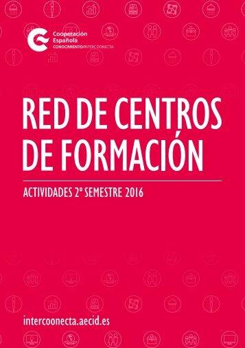 ACTIVIDADES 2º SEMESTRE 2016 intercoonecta.aecid.es