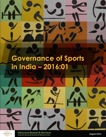 Governance of Sports in India – 2016:01