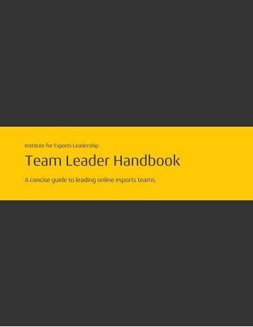 Team Leader Handbook