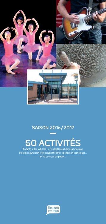 Plaquette MJC de Douai saison 2016 / 2017