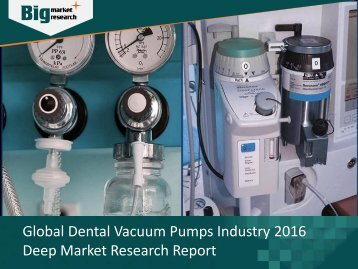 Dental Vacuum Pumps Industry Development Opportunities & Challenges 2016