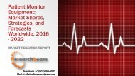 Patient Monitor Equipment Market Shares, Strategies, and Forecasts Worldwide, 2016 - 2022