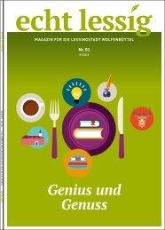 echt lessig Magazin - Ausgabe 1 »Genius und Genuss«