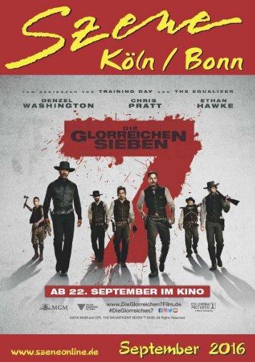 Szene Köln-Bonn, Ausgabe 09.2016