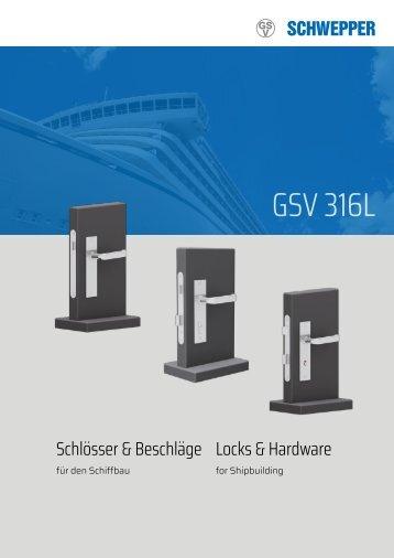 Produktblatt GSV 316 / Product leaflet GSV 316