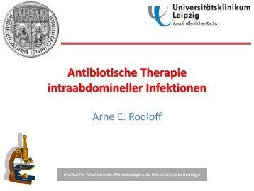 Antibiotische Therapie intraabdomineller Infektionen