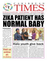 Caribbean Times 76th Issue - Monday 22nd August 2016