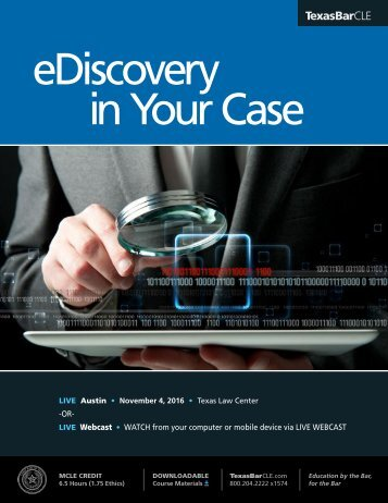 eDiscovery in Your Case