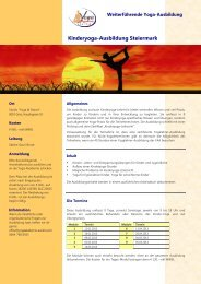 Kinderyoga-Ausbildung Steiermark - Yogaakademie-austria