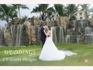 LV Event Designs Wedding Brochure