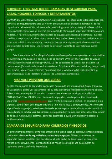 CAMARAS DE SEGURIDAD QUITO ECUADOR