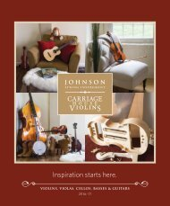 Johnson String Instrument / Carriage House Violins 2016-2017 Catalog