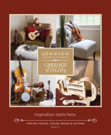 Johnson String Instrument / Carriage House Violins 2016-2017 Catalog