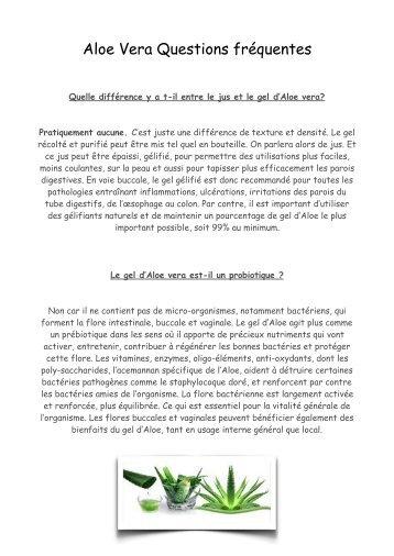 Aloe Vera information