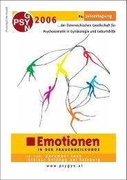 Emotionen - Österreichischen Gesellschaft für Psychosomatik in ...