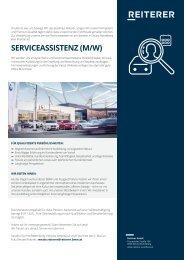 STELLENAUSSCHREIBUNG - Reiterer GmbH