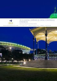 2016 LEADING LEARNING & CARING CONFERENCE HANDBOOK