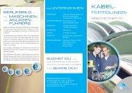 Ausbildung zum Kabelfertigungsmechaniker/-in