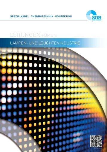 Kabel und Leitungen für die Lampen- und Leuchtenindustrie
