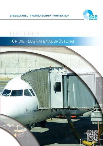 Leitungen für die Flughafenausrüstung