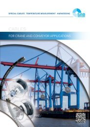 Cables for Crane and Conveyor applications