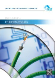 Industrial Ethernet-Leitungen CAT 5 / CAT 6 / CAT 7