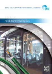 Cables for E-Ticketing Systems