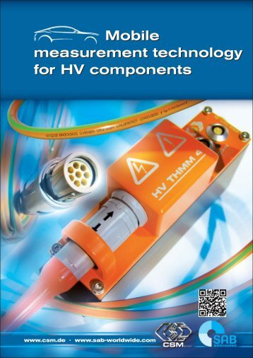 Mobile measurement technology for HV components