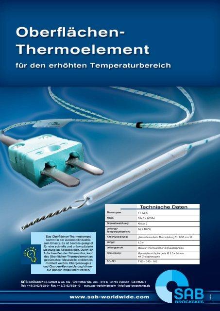 Oberflächen-Thermoelement