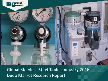 Stainless Steel Tables Industry Analysis, Strategies & Growth