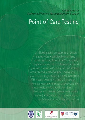 Point of Care Testing - Royal College of Physicians of Ireland