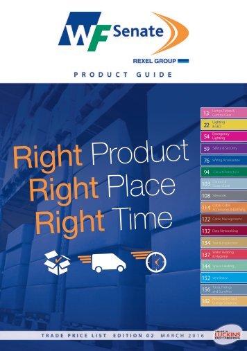 WF Senate Trade Price Product Guide Edition 2 March 2016 V2