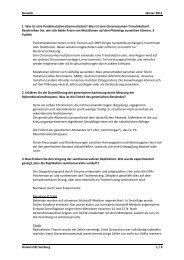 Ausarbeitung 1 - StV Biologie Salzburg