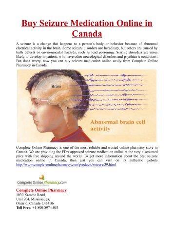 Buy Seizure Medication Online in Canada