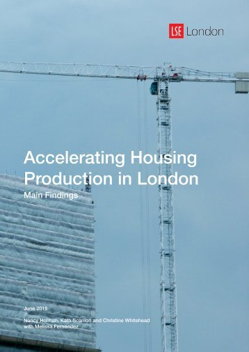 Accelerating Housing Production in London
